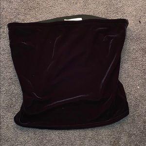 Velvet tube top